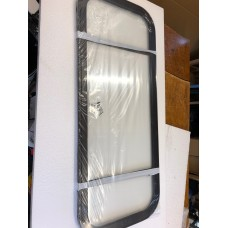 NEW   Clear Crewcab rear fixed frame replacement unit