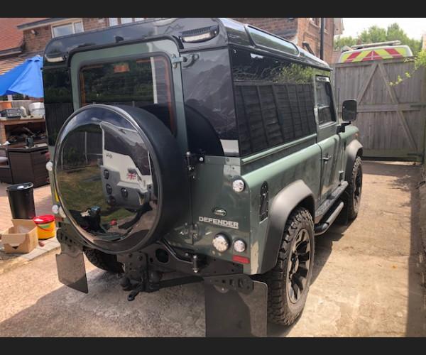 Defender 90  dark limo tinted panoramics