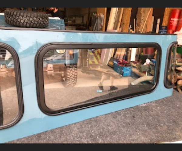Clear Crewcab Rear Fixed Frame Replacement Unit